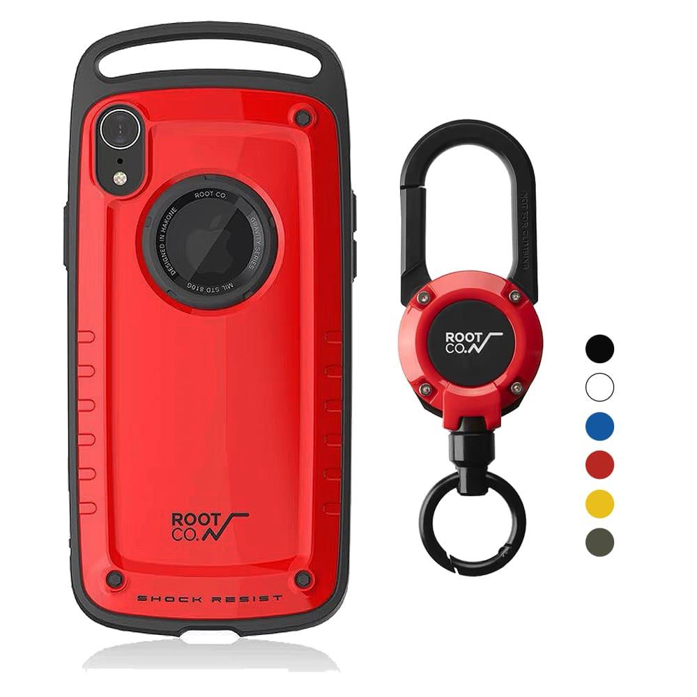 日本 ROOT CO.│iPhone XR Gravity Pro 單掛勾+360度旋轉登山扣 - 共六色