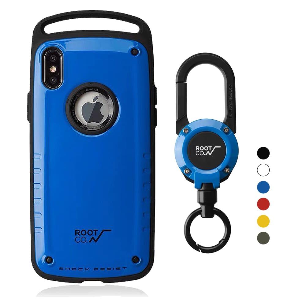 日本 ROOT CO.│iPhone Xs Max Gravity Pro 單掛勾+360度旋轉登山扣 - 共六色