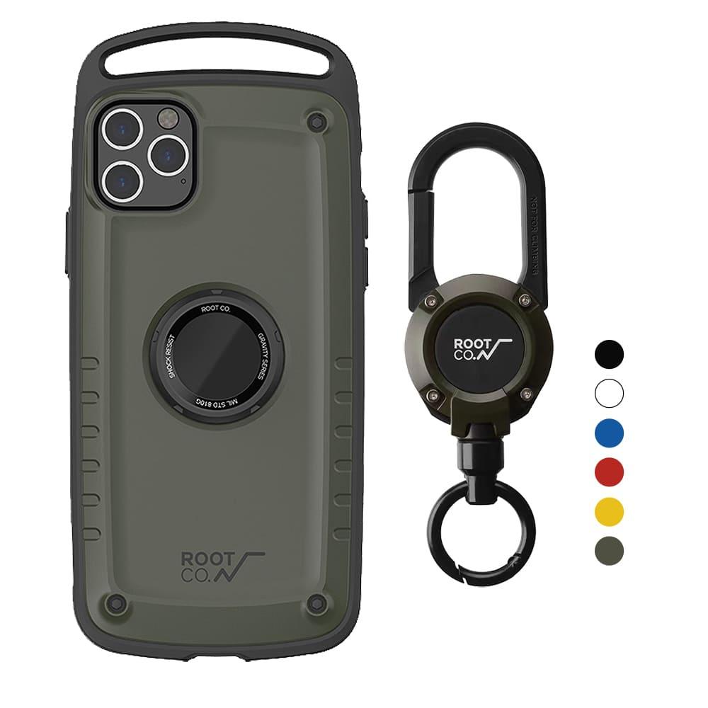 日本 ROOT CO.│iPhone 11 Pro Max Gravity Pro 單掛勾+360度旋轉登山扣 - 共六色
