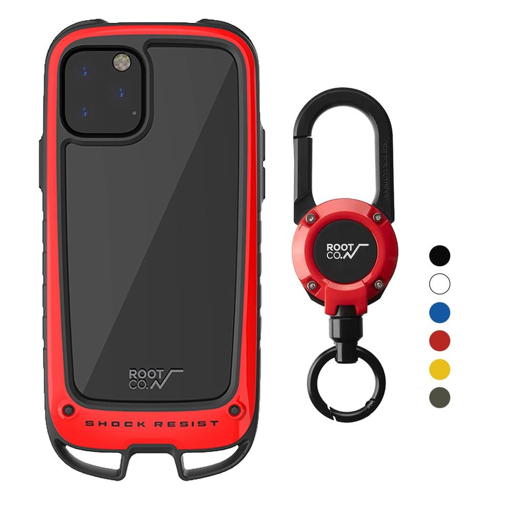 日本 ROOT CO.|iPhone 11 Pro Max Gravity Hold. 雙掛勾+360度旋轉登山扣 - 共六色