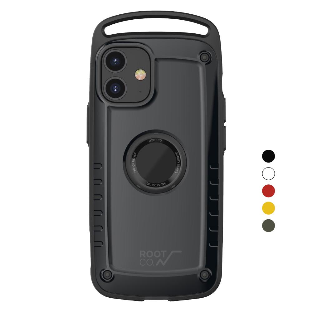 日本 ROOT CO.|iPhone 12 mini Gravity Pro 單掛勾式軍規防摔手機保護殼 - 共五色