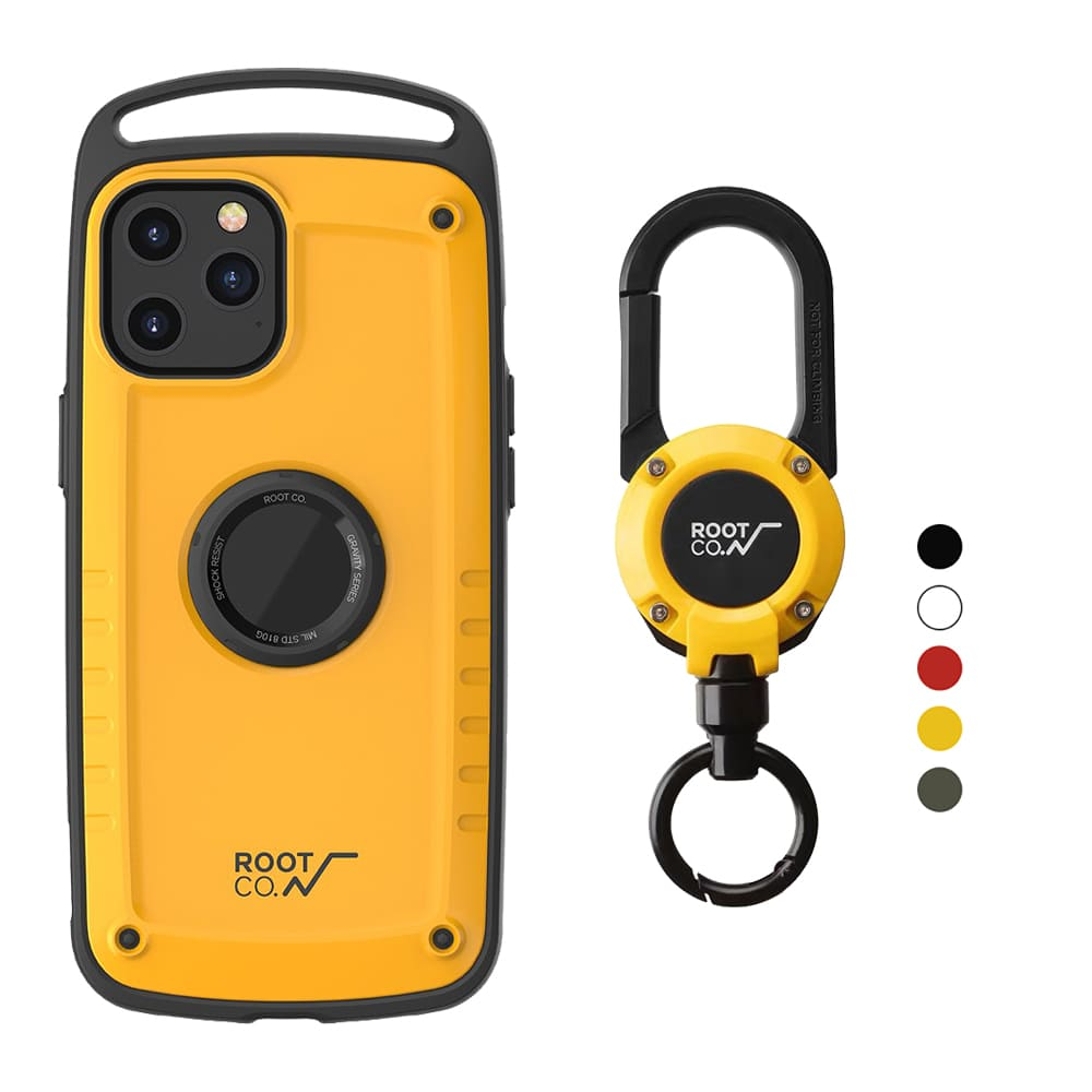 日本 ROOT CO.|iPhone 12 Pro Max Gravity Pro 單掛勾+360度旋轉登山扣 - 共五色