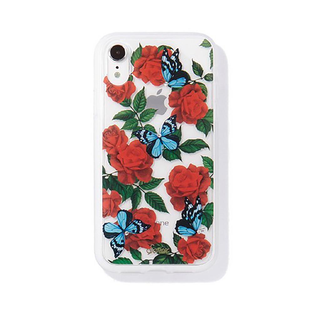 美國 Sonix|iPhone XR Rhinestone Butterfly Garden 玫瑰夜蝶軍規防摔手機保護殼