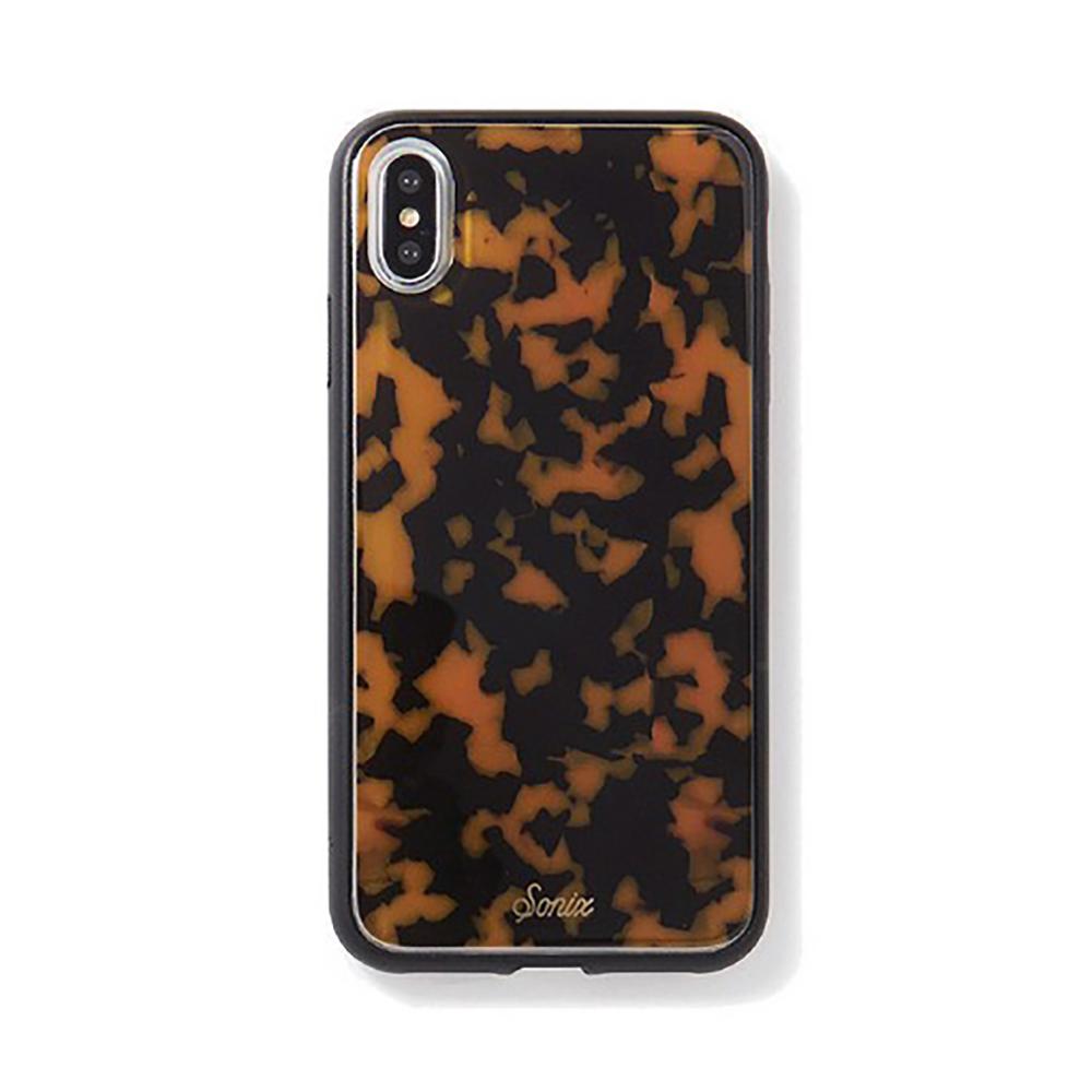 美國 Sonix|iPhone XS Max Brown Tort 琥珀豹動軍規防摔手機保護殼
