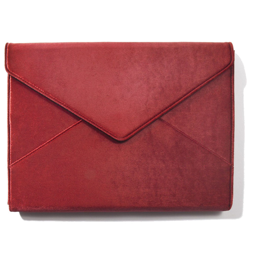 美國 Sonix|Rose Velvet Laptop Clutch - Cherry 13吋櫻桃絲絨筆電包