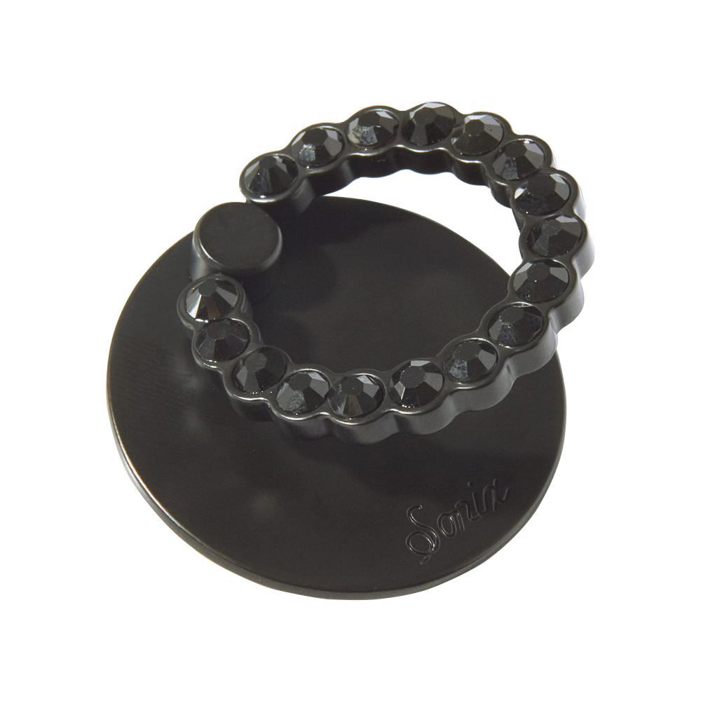 美國 Sonix|Black 曜黑石鑽手機戒指支架
