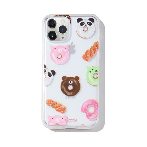 美國 Sonix|iPhone 11 Pro Kawaii Donuts 點心動物園軍規防摔手機保護殼