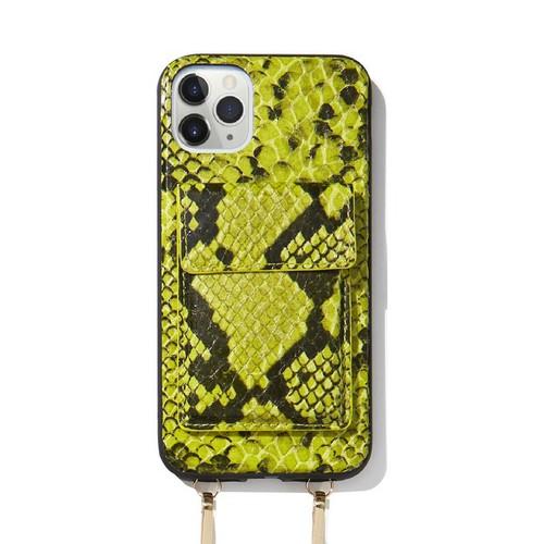 美國 Sonix|iPhone 11 Pro Max Tres Case Crossbody-Neon Green 凡賽斯戀人-螢光綠軍規防摔手機保護殼