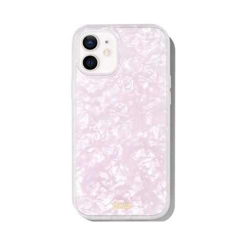 美國 Sonix|iPhone 12 mini Pink Pearl Tort 粉紅貝殼抗菌軍規防摔手機保護殼