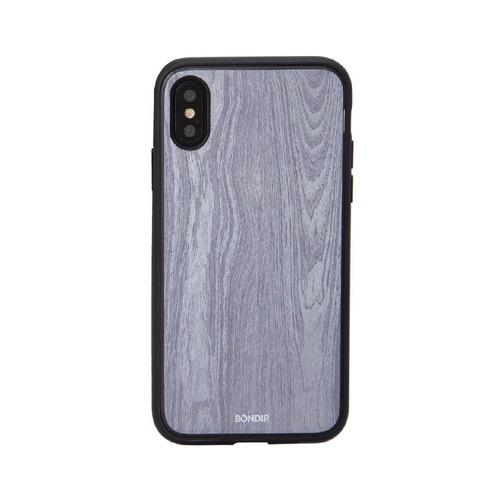 美國 BONDIR iPhone X/XS Wood Grain 格魯特灰軍規防摔手機保護殼