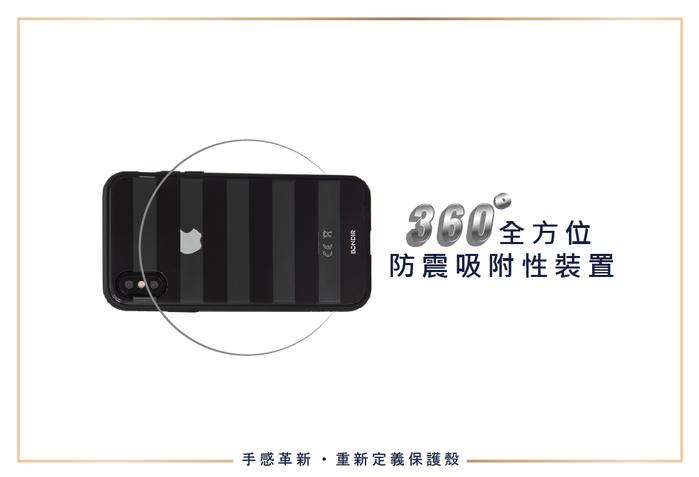美國 BONDIR|iPhone X/XS Black Stripe 黑磨坊軍規防摔手機保護殼