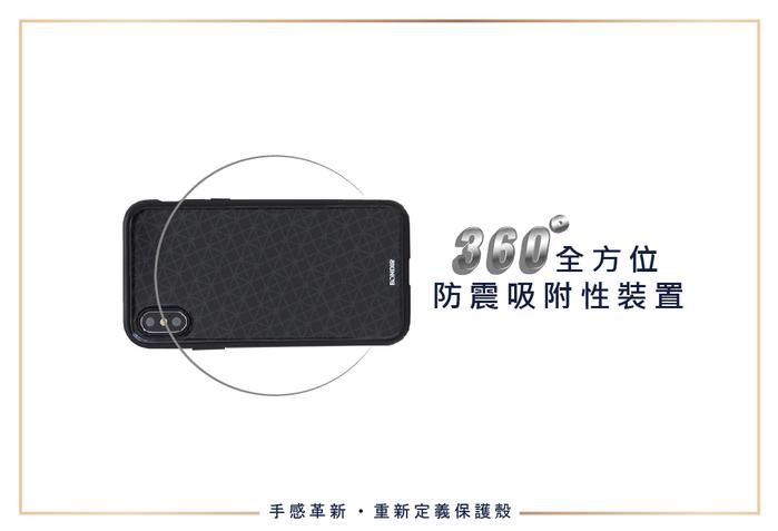 (複製)美國 BONDIR|iPhone X/XS Mist-Silver 深海薄霧-銀軍規防摔手機保護殼