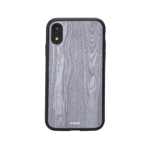 美國 BONDIR iPhone XR Wood Grain 格魯特灰軍規防摔手機保護殼