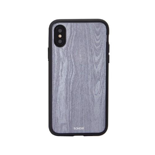美國 BONDIR|iPhone XS Max Wood Grain 格魯特灰軍規防摔手機保護殼