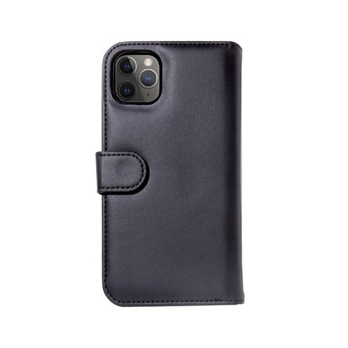 美國 BONDIR|iPhone 11 Pro Detachable Wallet Black 沉穩黑皮套式軍規防摔手機保護殼