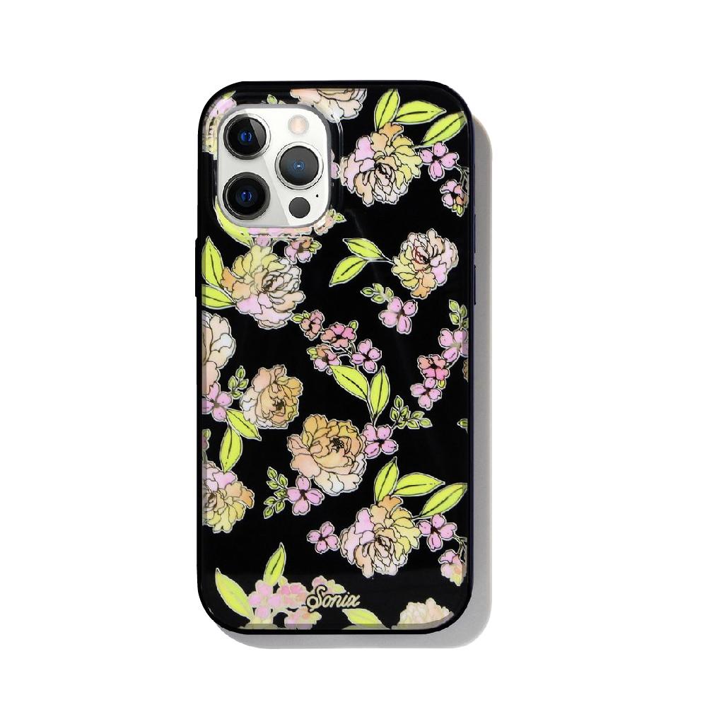 美國 Sonix iPhone 12 / 12 Pro Floral Fantasy Black 花曜黑抗菌軍規防摔手機保護殼