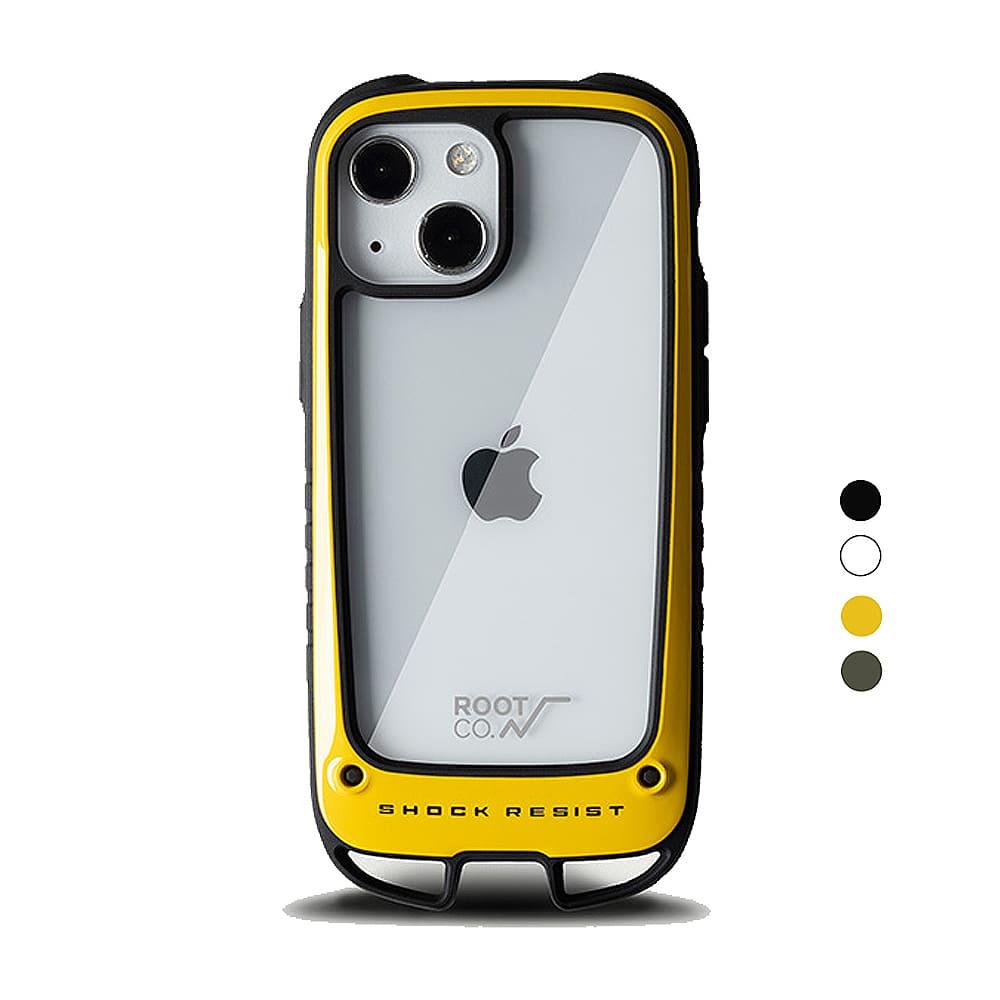 日本 ROOT CO.|iPhone 13 mini 雙掛勾式防摔手機殼 - 共四色
