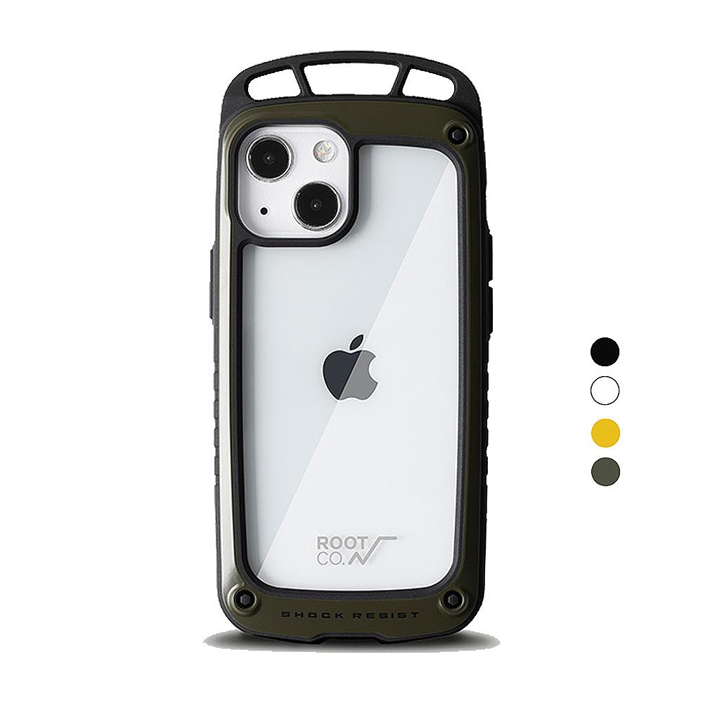 日本 ROOT CO.|iPhone 13 mini 透明背板上掛勾防摔手機殼 - 共四色
