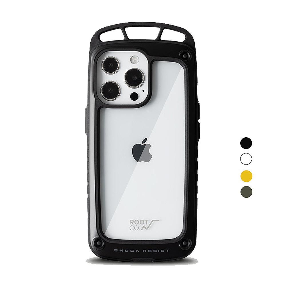 日本 ROOT CO.|iPhone 13 Pro 透明背板上掛勾防摔手機殼 - 共四色