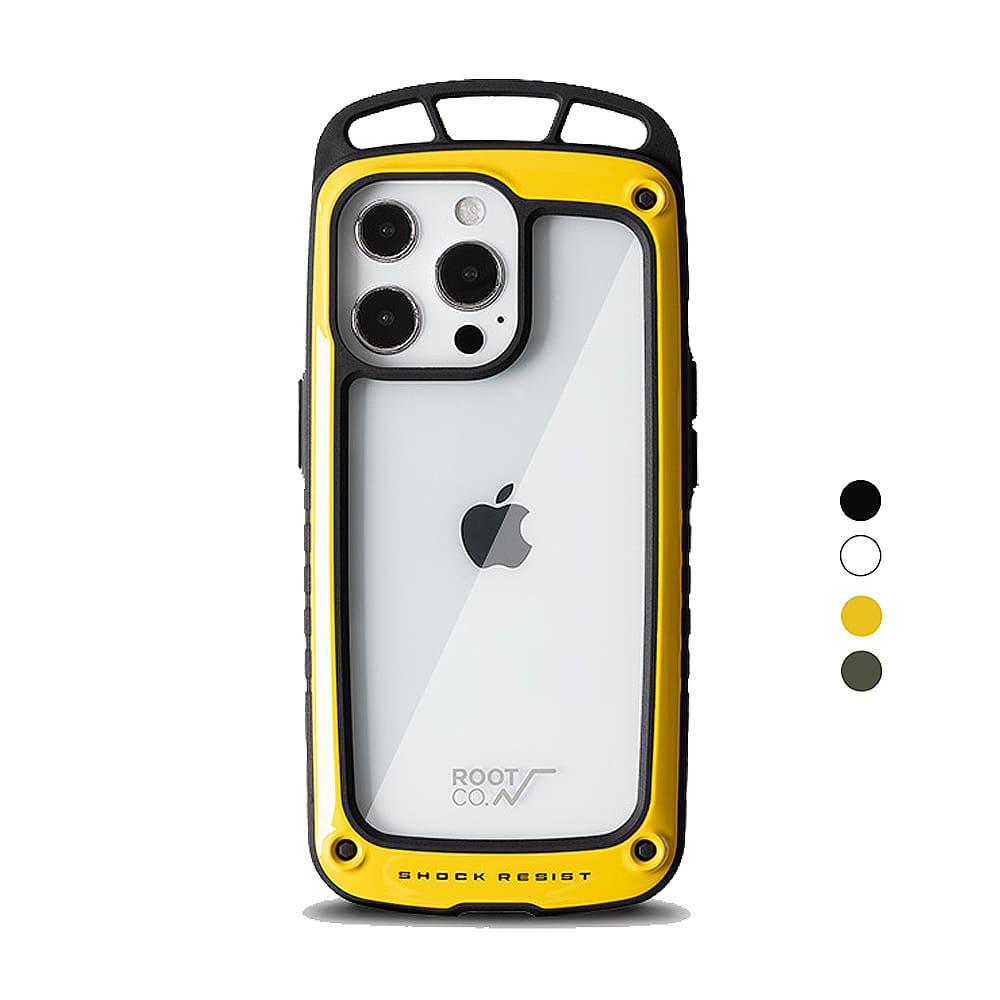 日本 ROOT CO. iPhone 13 Pro Max 透明背板上掛勾防摔手機殼 - 共四色