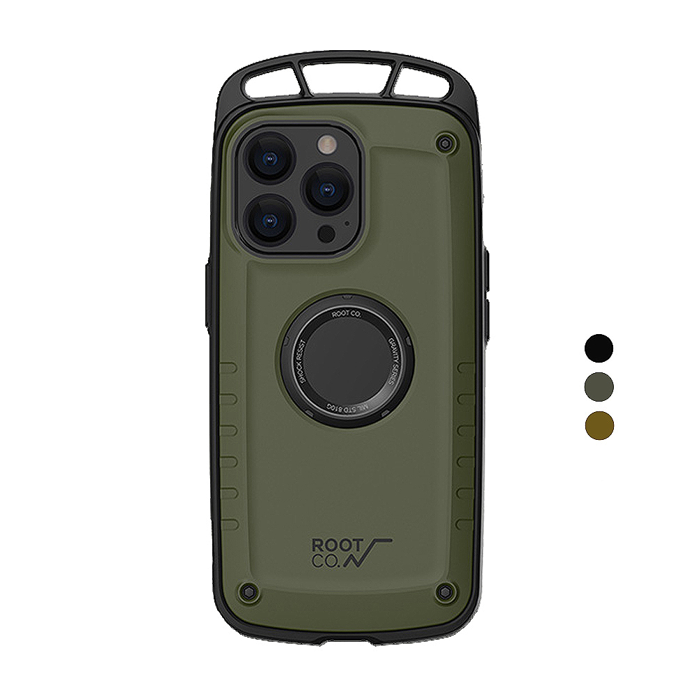 日本 ROOT CO.|iPhone 13 Pro 單掛勾式防摔手機殼 - 共三色