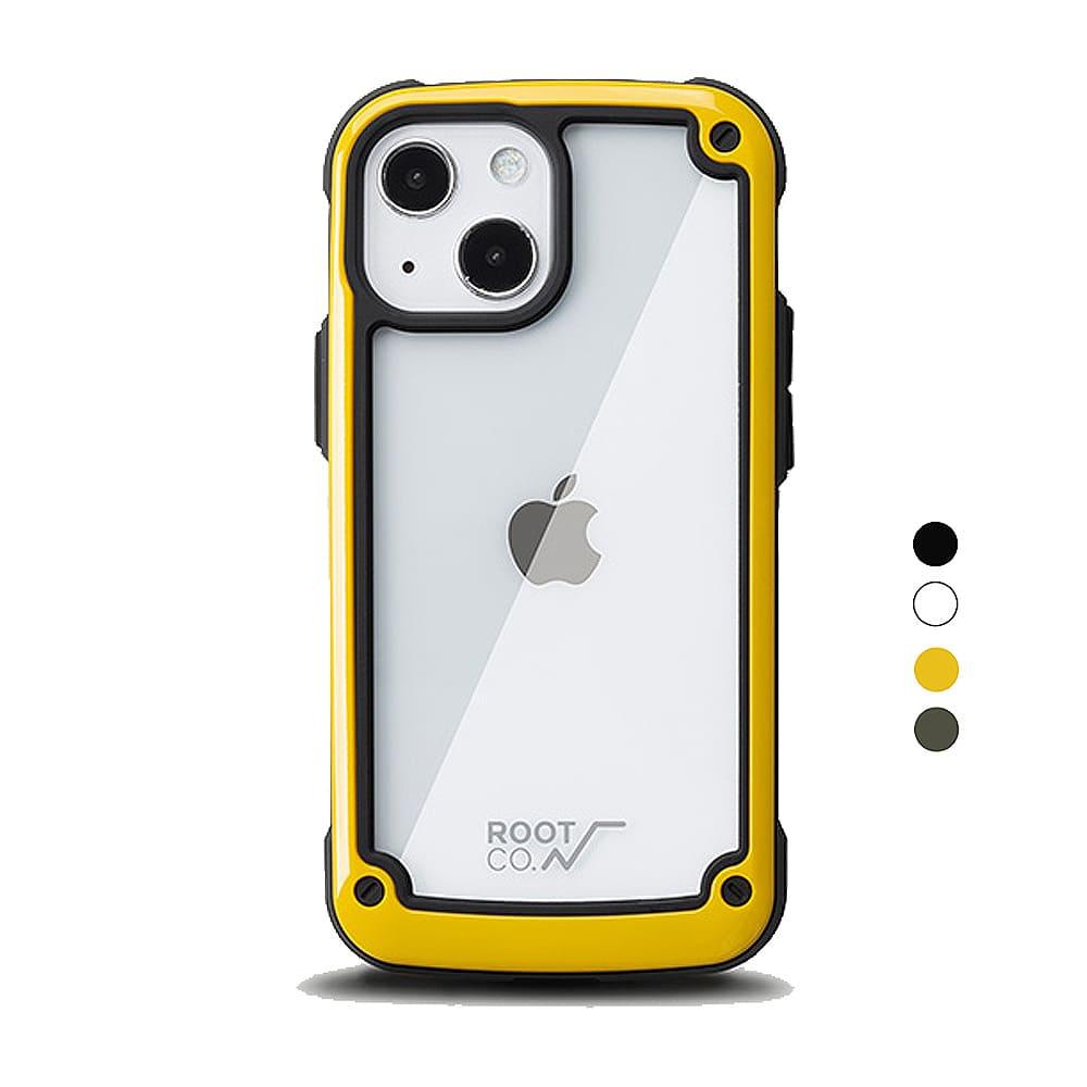 日本 ROOT CO. iPhone 13 透明背板防摔手機殼 - 共四色