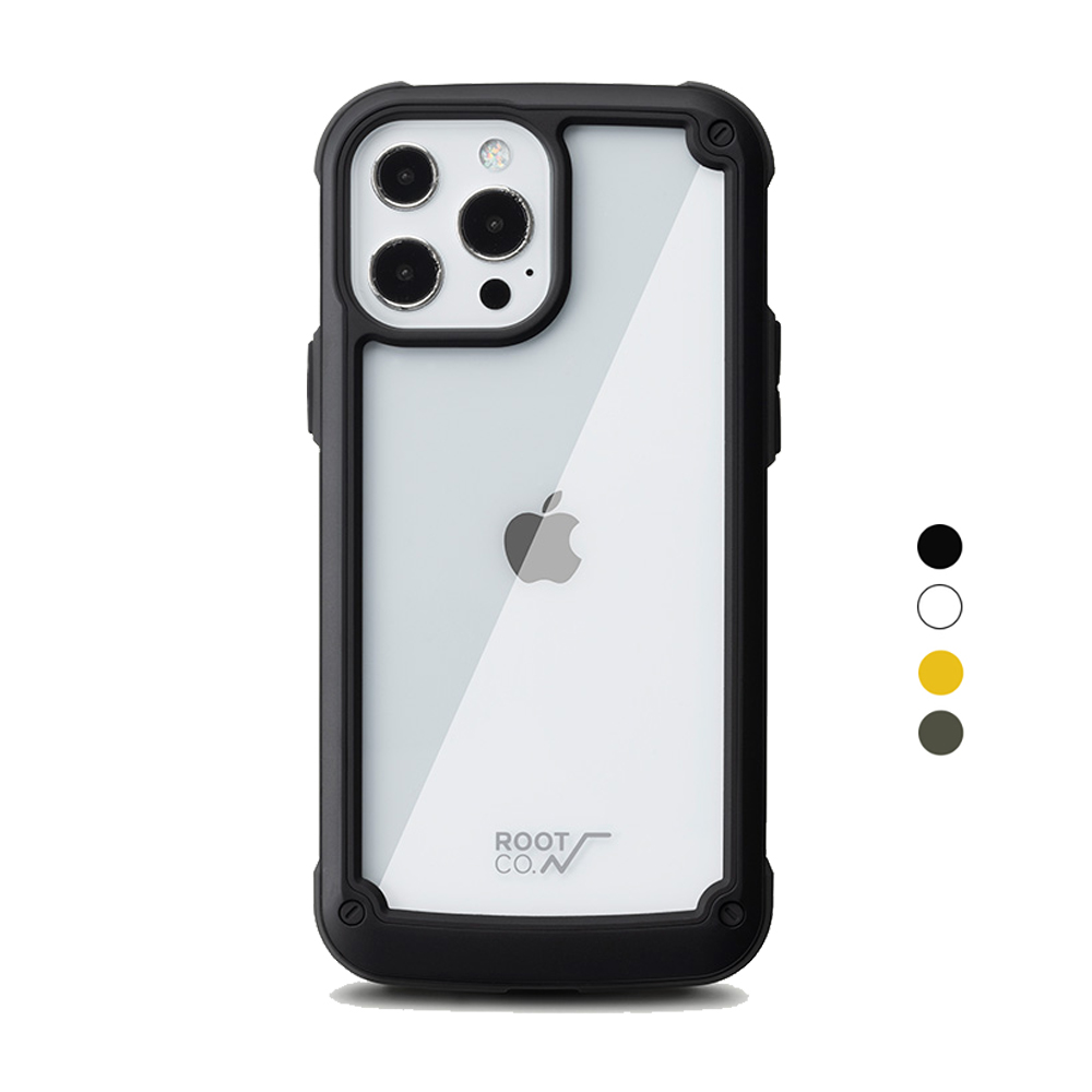日本 ROOT CO. iPhone 13 Pro Max 透明背板防摔手機殼 - 共四色