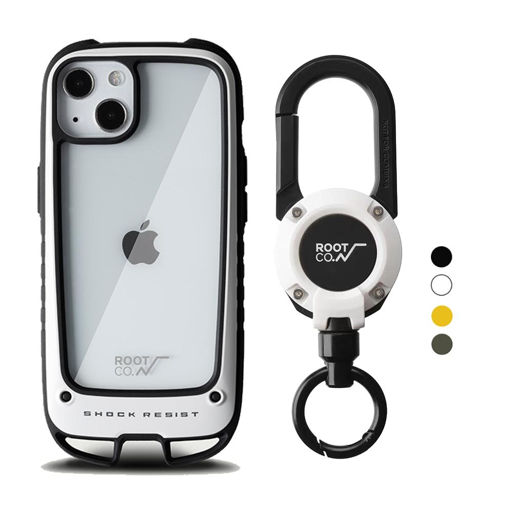 日本 ROOT CO. iPhone 13 雙掛勾式防摔手機殼 + 360度旋轉登山扣 - 共四色