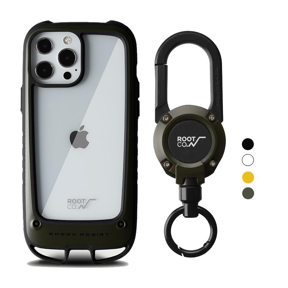 日本 ROOT CO.|iPhone 13 Pro Max 雙掛勾式防摔手機殼 + 360度旋轉登山扣 - 共四色