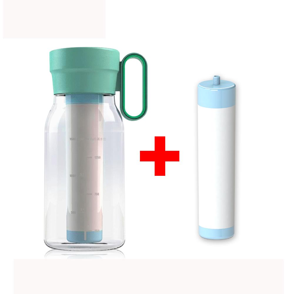 Purie 普瑞 便攜式除菌奈米直飲壺含濾心+濾心一入