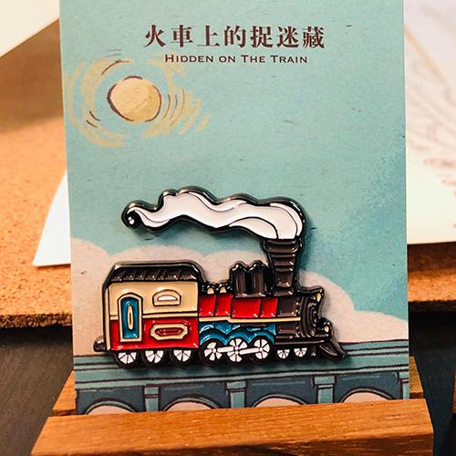 大寬文化|《火車上的捉迷藏》金屬烤漆磁鐵(火車)