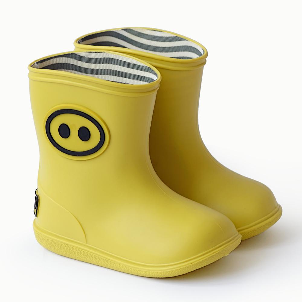法國BOXBO|BottineKawaï雨靴(小豬齁齁/日光黃)