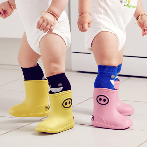 法國BOXBO│BottineKawaï雨靴(小豬齁齁/清澈藍)