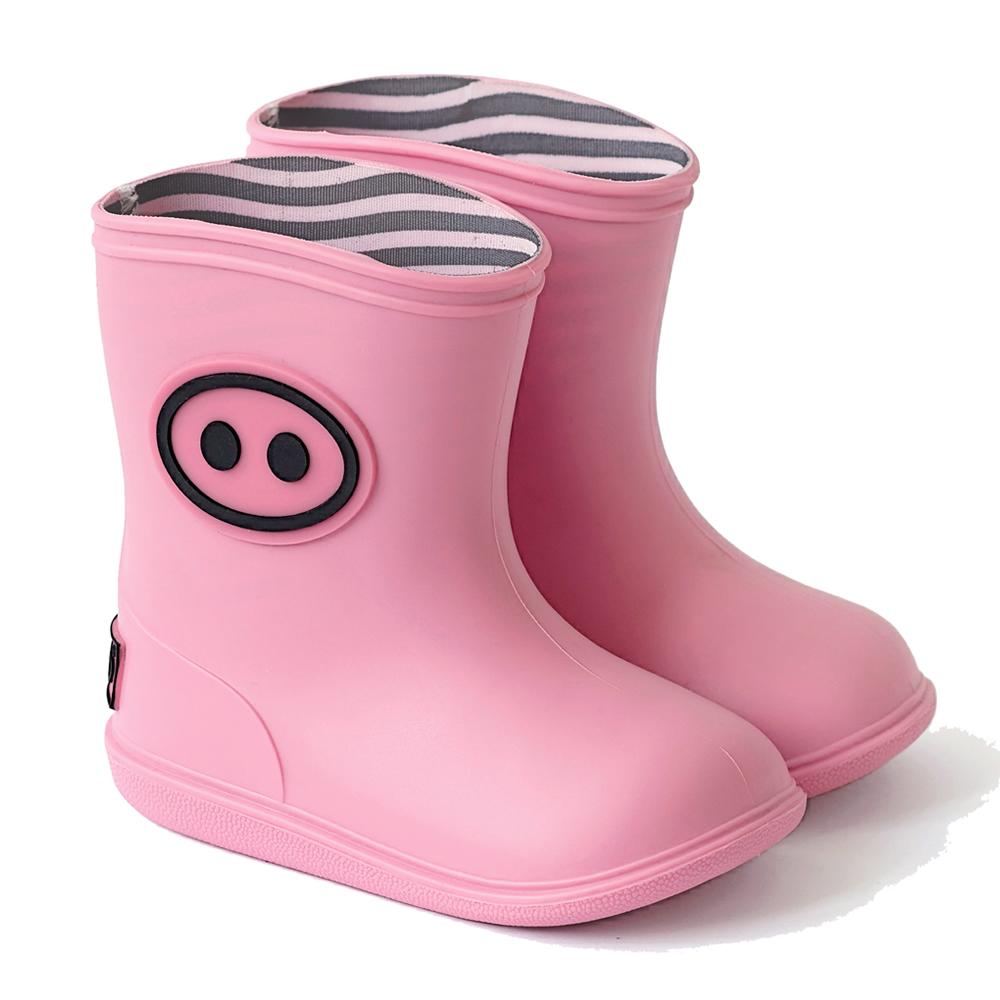 法國BOXBO|BottineKawaï雨靴(小豬齁齁/蔷薇粉)
