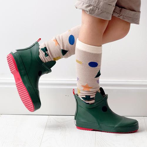 法國BOXBO Kerran雨靴(遊樂園/貓咪綠)