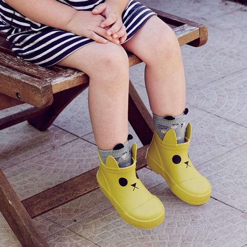法國BOXBO|Kerran雨靴(遊樂園/貓咪黃)
