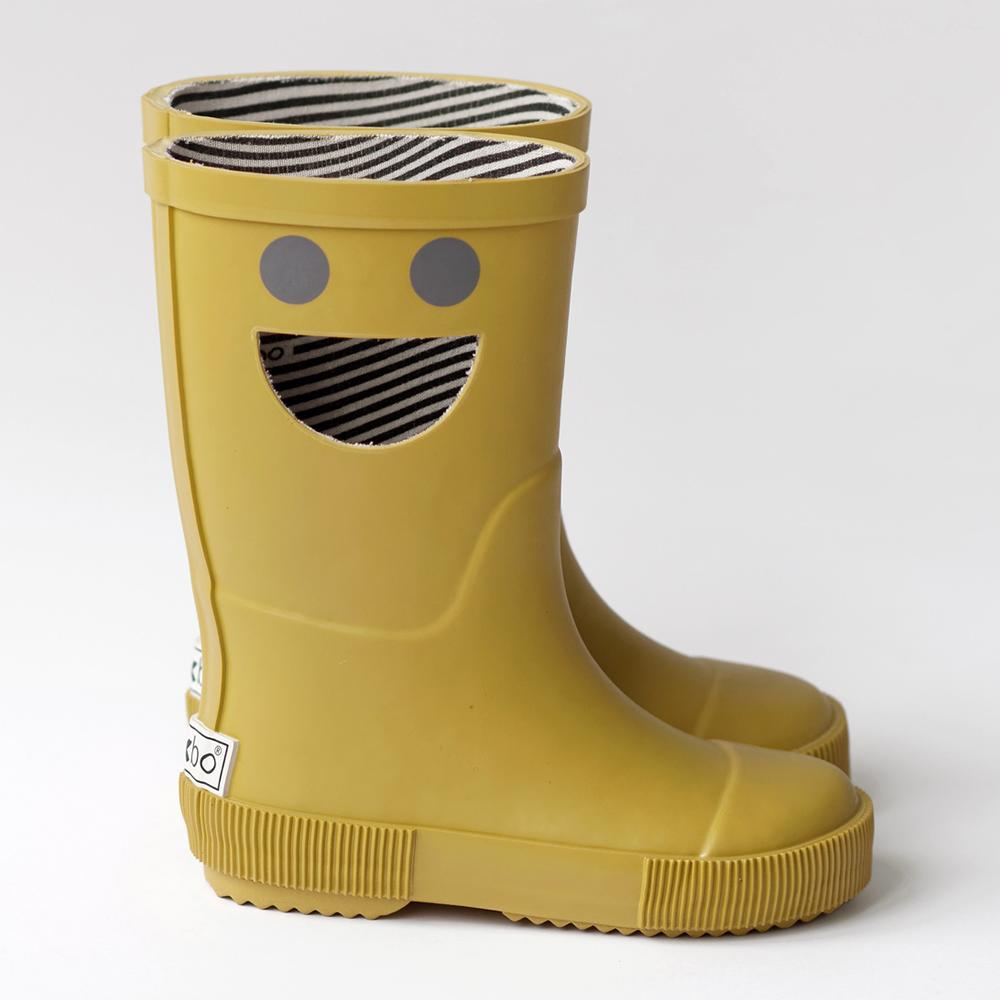 法國BOXBO WISTITI雨靴(我愛笑瞇瞇/芥末黃)