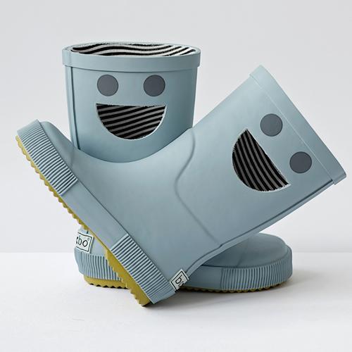 法國BOXBO WISTITI雨靴(我愛笑瞇瞇/薄霧藍)