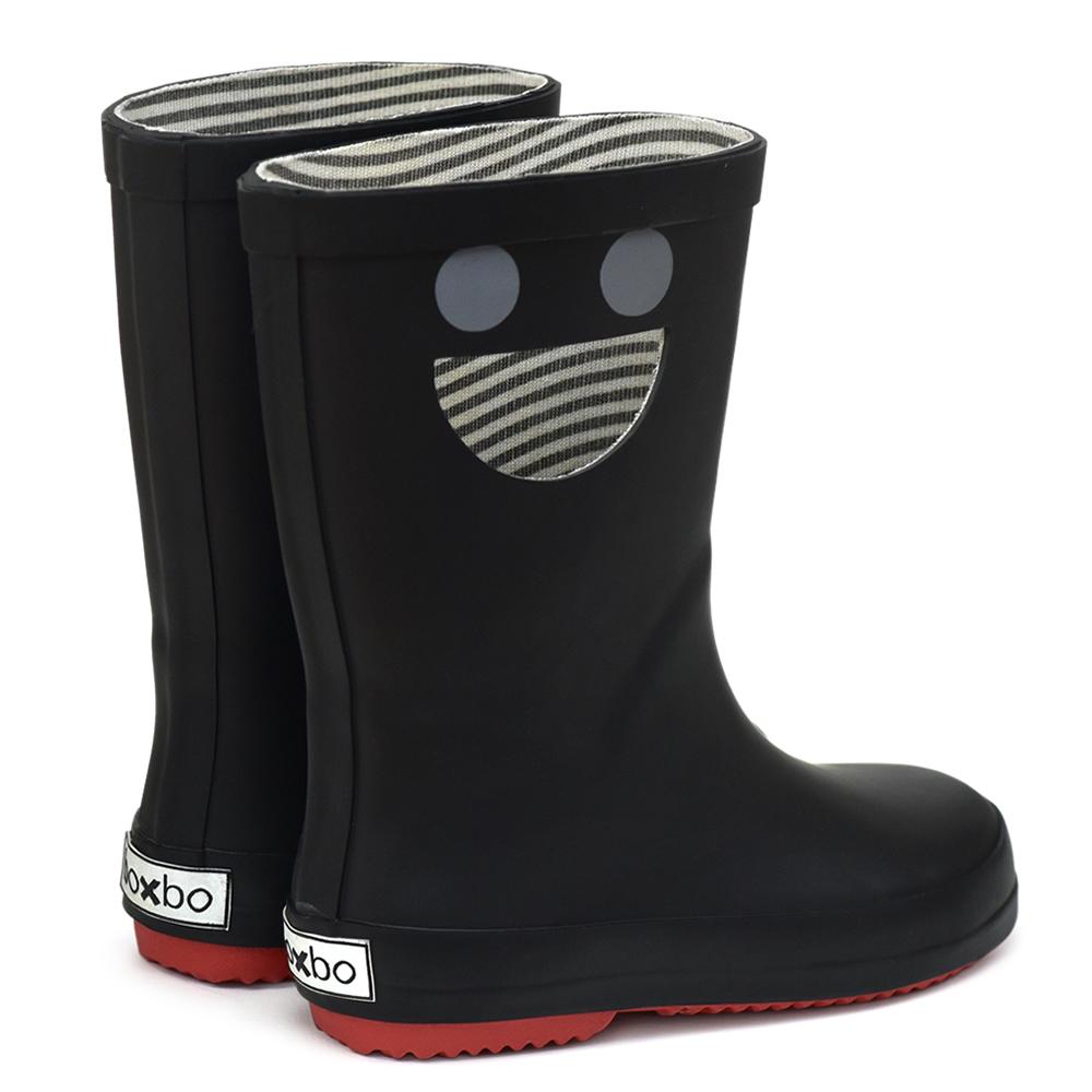 法國BOXBO|WISTITI雨靴(我愛笑瞇瞇/個性黑)