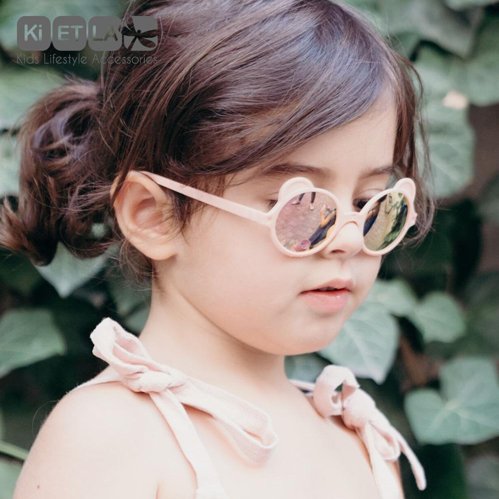 法國Ki ET LA|OURS'ON萌貝熊幼兒太陽眼鏡(蜜桃粉)