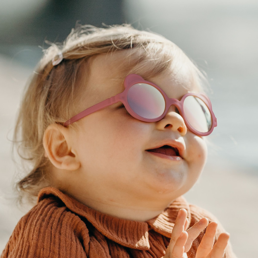 法國Ki ET LA|OURS'ON萌貝熊幼兒太陽眼鏡(煙薰粉)