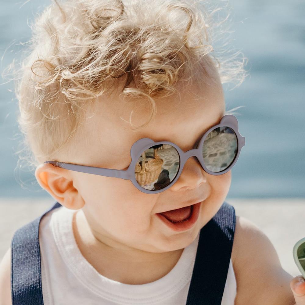 法國Ki ET LA|OURS'ON萌貝熊幼兒太陽眼鏡(霧灰藍)