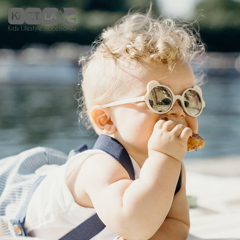 法國Ki ET LA|OURS'ON萌貝熊幼兒太陽眼鏡(象牙白)