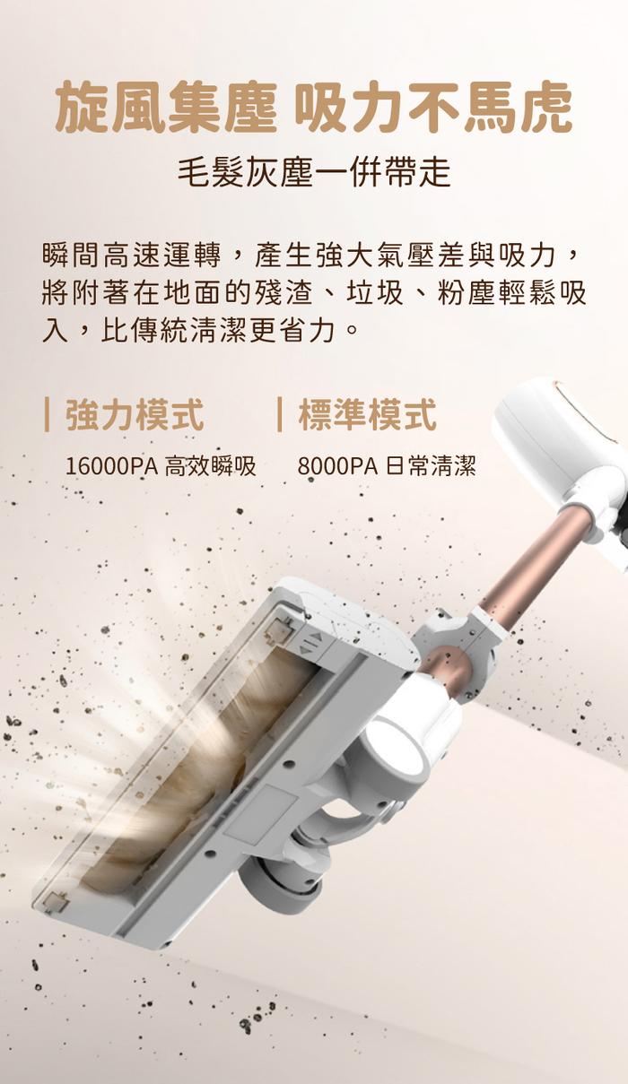 SANSUI 山水│無刷馬達手持無線吸塵器-旗艦版豪華大全配 電動除蹣/雙電池/HEPA濾網 SVC-K688