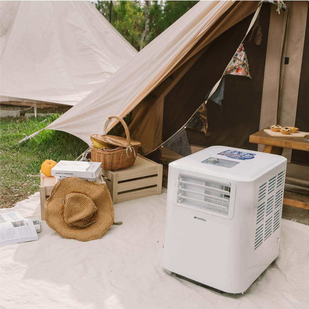 SANSUI 山水 清淨除濕移動式空調 6300BTU 適用3-5坪 (SAC688)