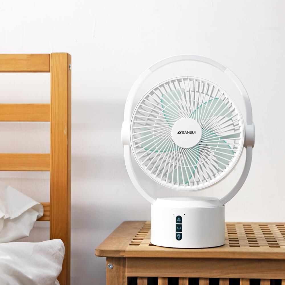 SANSUI 山水|9吋美型移動智慧驅蚊循環充電式風扇 SDF-0915