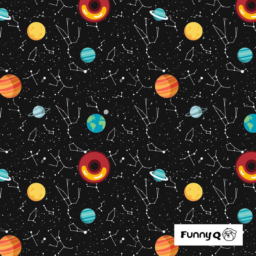 Funny Q|透氣排汗斗篷雨衣-星球甜甜圈
