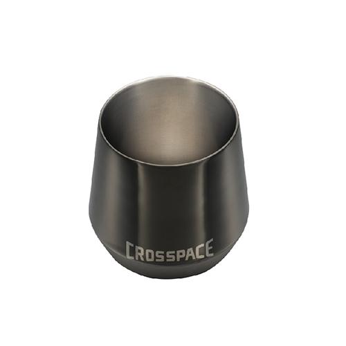 CROSSPACE|純鈦雙層杯(黑曜岩)