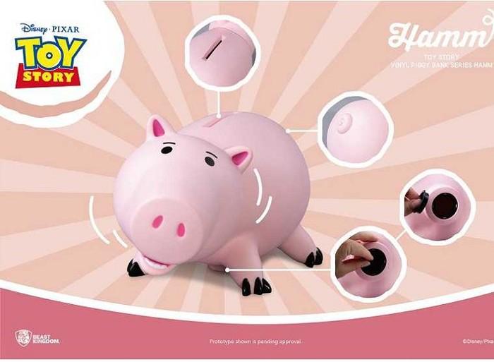 野獸國 玩具總動員 大型搪膠存錢筒系列 火腿豬款