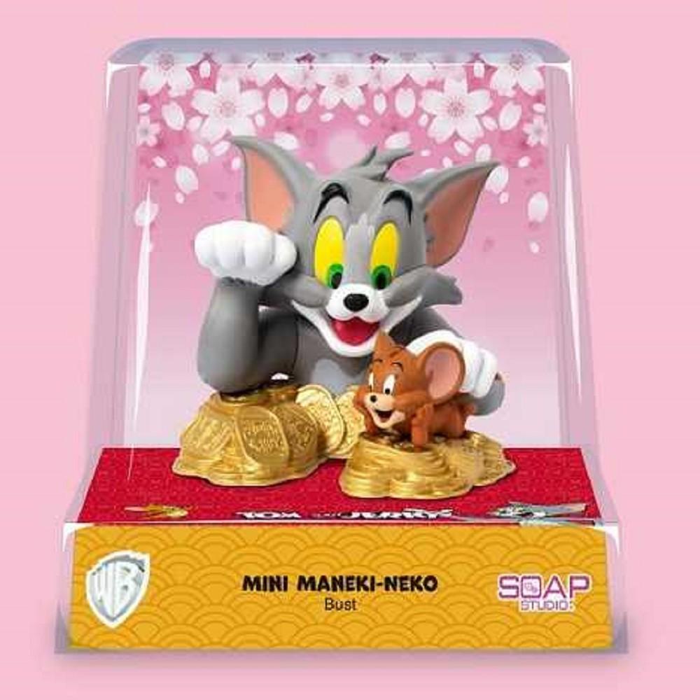野獸國|CA903湯姆貓與傑利鼠 迷你半身胸像 招財貓款